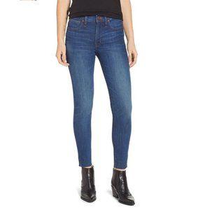 "MADEWELL 9"" High-Rise Skinny Raw Hem Edition Jeans"